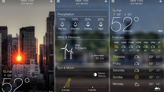 yahoo weather: Ứng Dụng Không Thể Thiếu Trong Smartphone Của Các Du Học Sinh