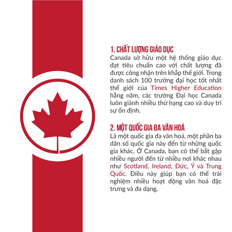 Vì sao nên đi du học canada