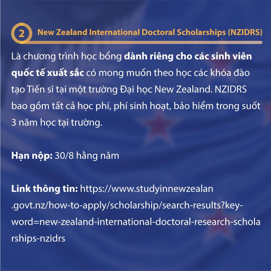 Chương Trình Học Bổng Du Học New Zealand