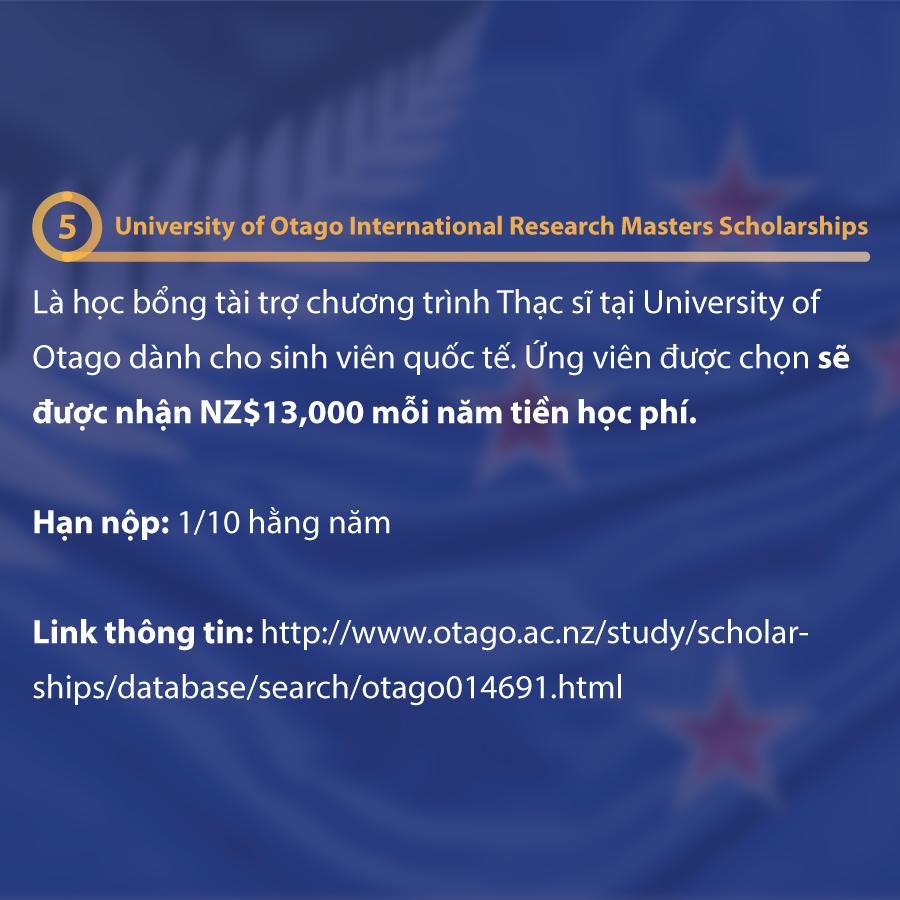 Những học bổng du học New Zealand mà bạn cần biết