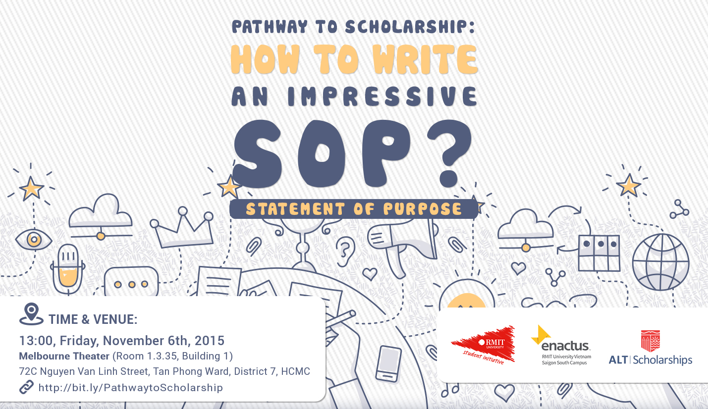 "Hội thảo ALT - RMIT "" Pathway to scholarships : How To Write An Impressive SOP ( Statement of Purpose ) ?"""