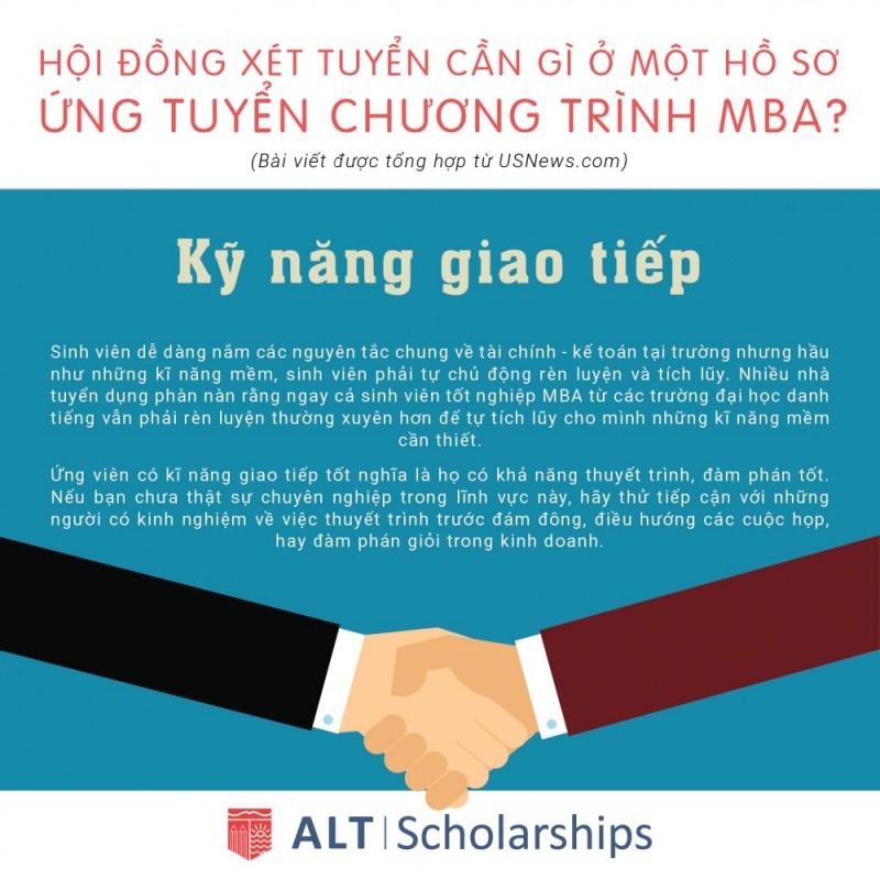 Ứng Tuyển Chương Trình MBA : 3. Kỹ năng giao tiếp