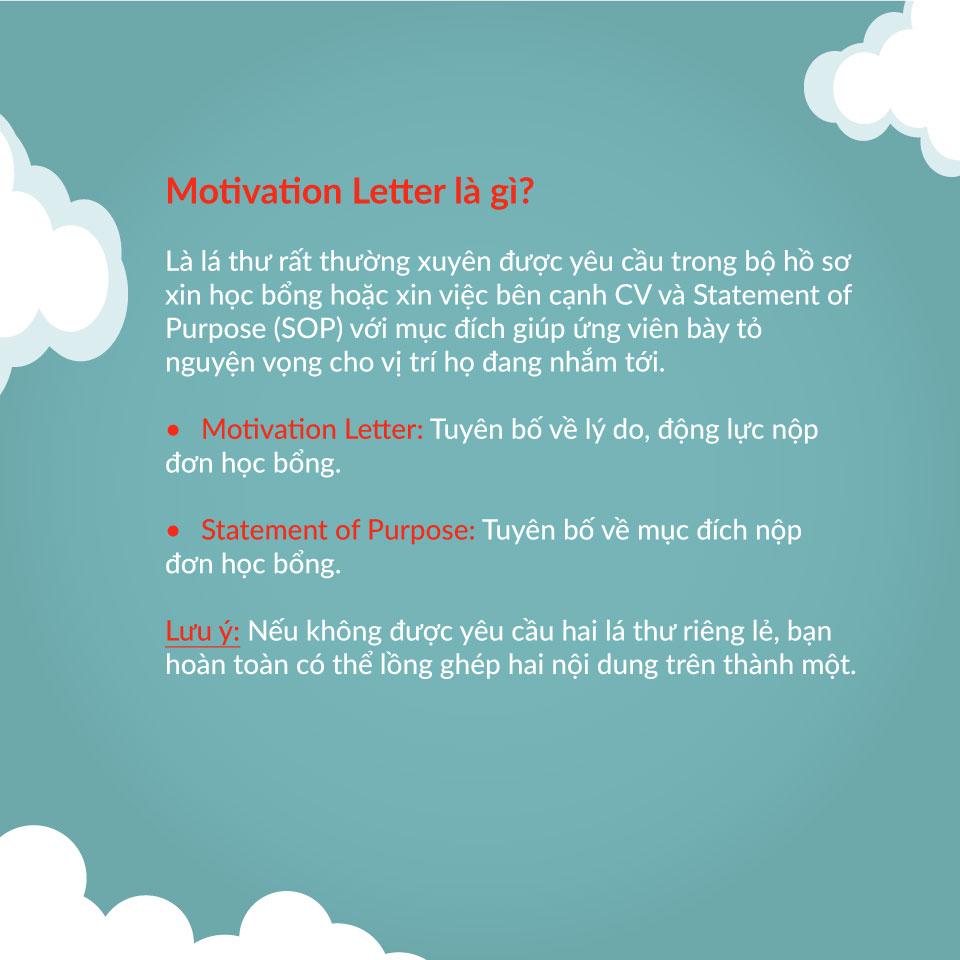 Motivation letter là gì