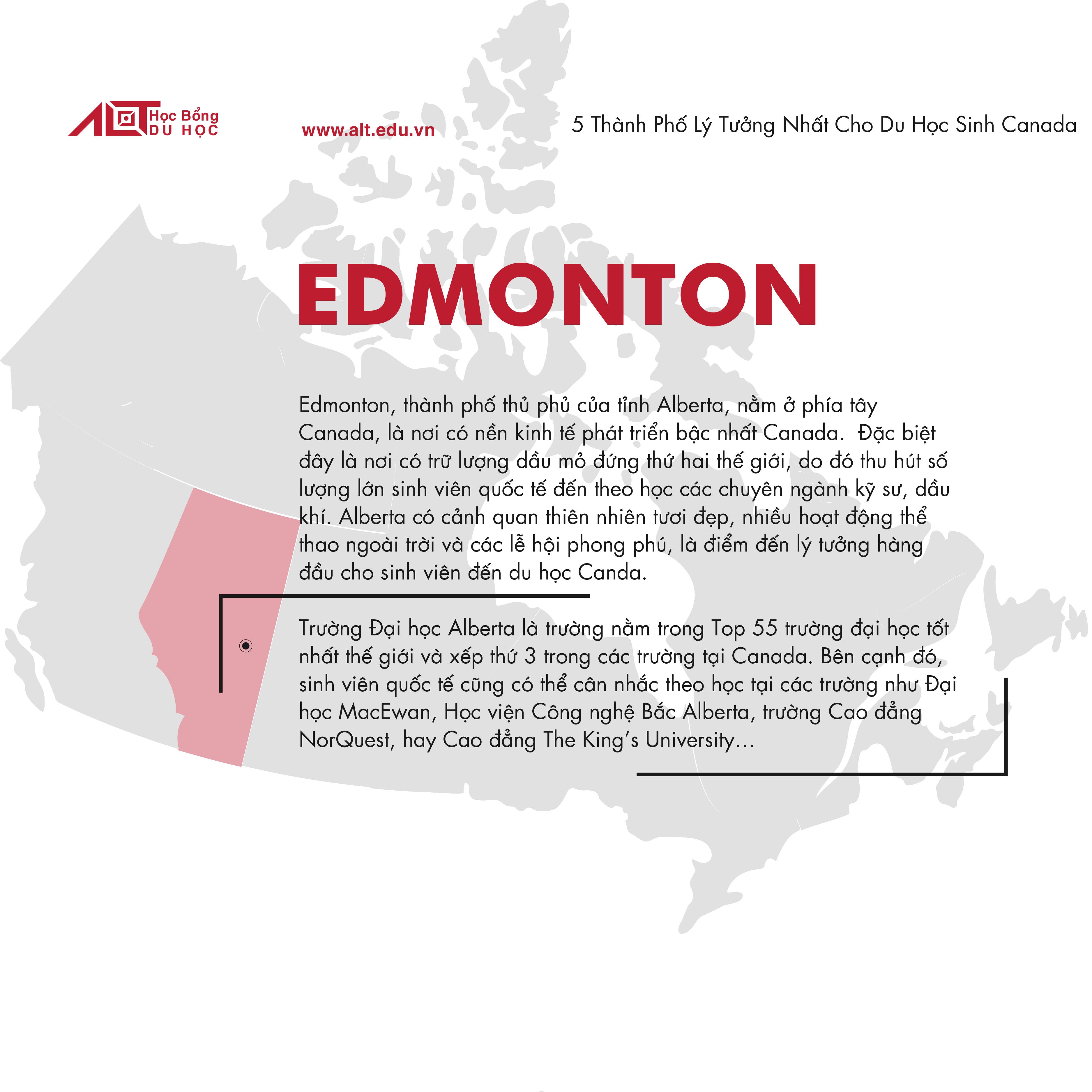 Thành Phố lý tưởng khi du học Canada