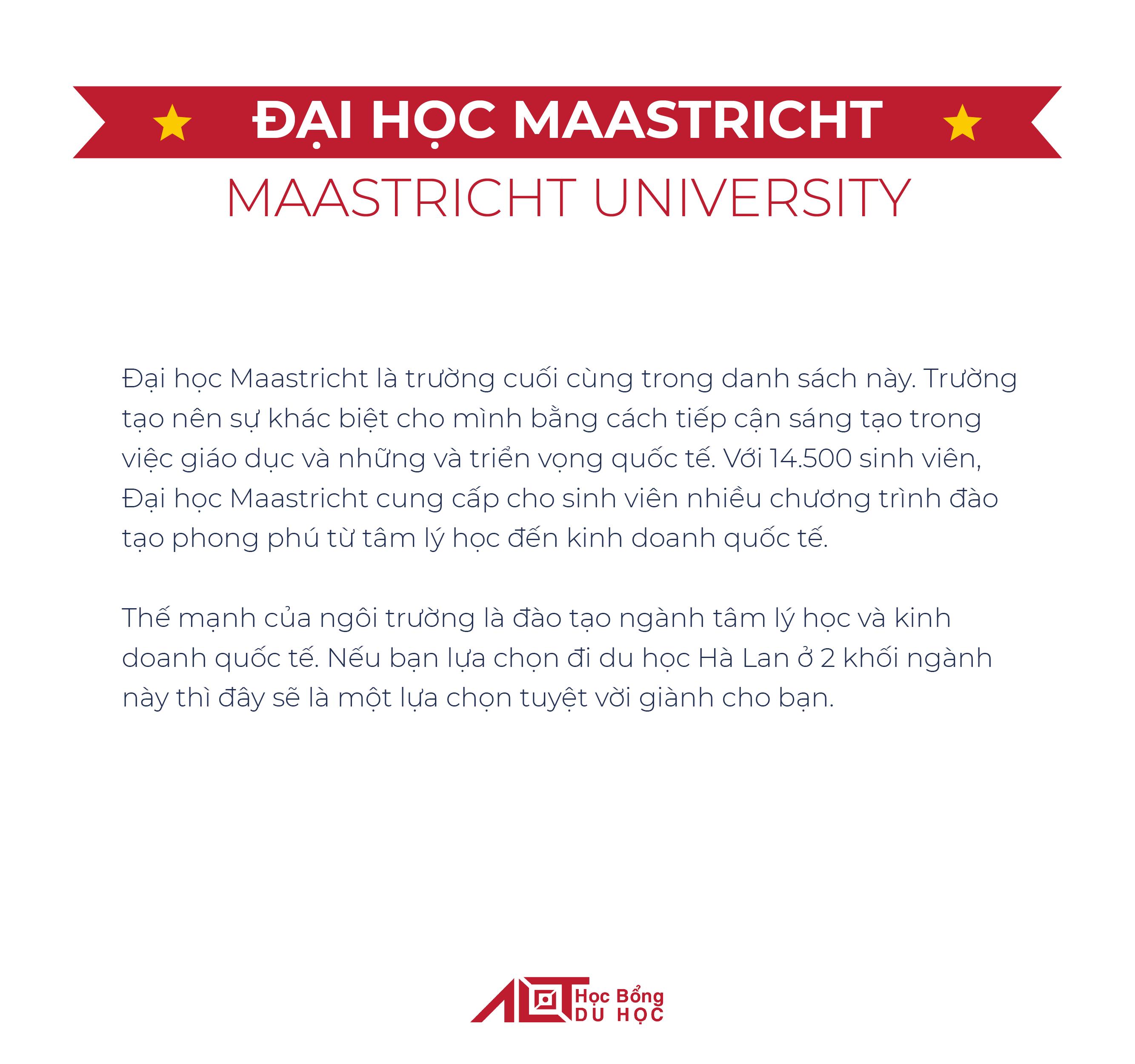 Top trường đại học ở Hà Lan