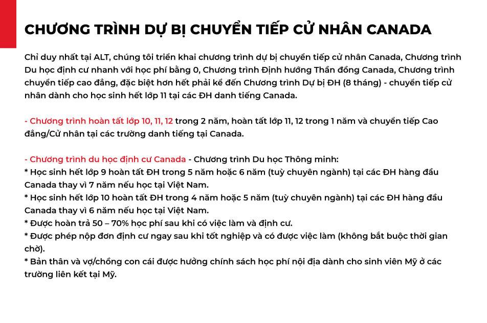 Chương trình du học định cư Canada