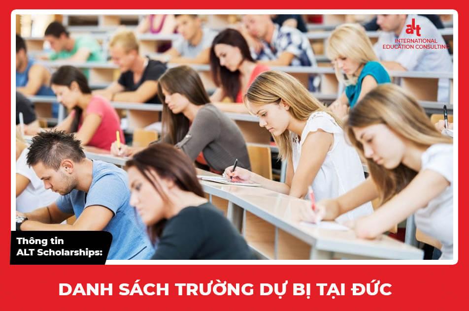 Thông tin ALT Scholarships: Danh sách trường dự bị tại Đức
